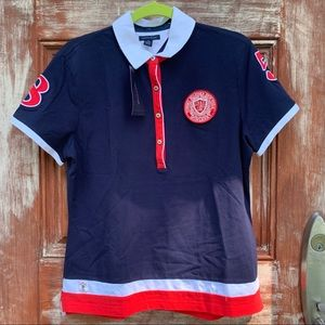 Tommy Hilfiger Red White Blue ShortSleeve Polo NWT